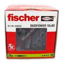 Дюбель Fischer DUOPOWER 10x80 универсальный