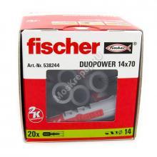 Дюбель Fischer DUOPOWER 14x70 универсальный