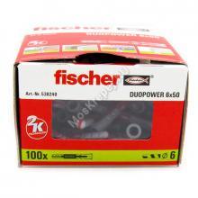 Дюбель Fischer DUOPOWER 6x50 универсальный