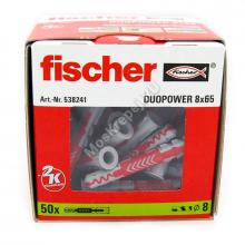 Дюбель Fischer DUOPOWER 8x65 универсальный