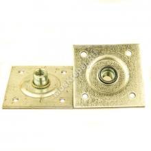 Пластина опорная облегченная 60x60 мм с 4 отверстиями М10