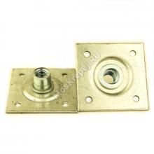 Пластина опорная облегченная 60x60 мм с 4 отверстиями М12