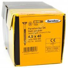 Eurotec 4.5x40 Paneltwistec Потайная головка