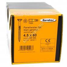 Eurotec 4.5x60 Paneltwistec Потайная головка