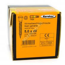 Саморез Eurotec 5x40 для перфорированного крепежа
