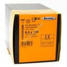 Eurotec 8x120 Paneltwistec Тарельчатая головка, сталь с желтой оцинковкой