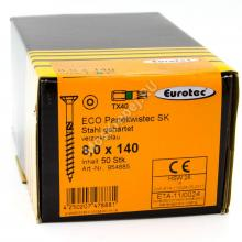 Eurotec 8x140 ECO PT Потайная головка