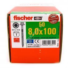 Конструкционные саморезы Fischer 8x100 с пресс-шайбой