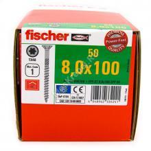 Конструкционные саморезы Fischer 8x100 потайная головка