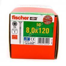 Конструкционные саморезы Fischer 8x120 потайная головка