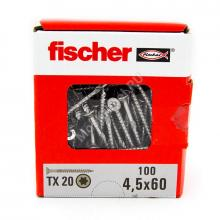 Саморезы Fischer 4,5x60 для ДСП и фасада из нержавейки