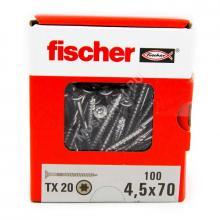 Саморезы Fischer 4,5x70 для ДСП и фасада из нержавейки