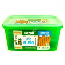 Комплект саморезов для террасной доски SPAX D 5x50 (550 шт.)
