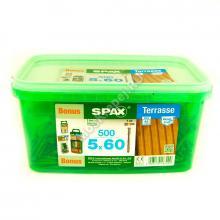 Комплект саморезов для террасной доски SPAX D 5x60 (500 шт.)