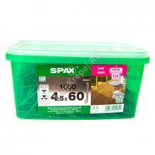 Саморезы SPAX 4.5x60 для террасной доски wirox (1000 шт. + бита)