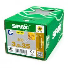 Саморезы SPAX 3.5x35 желтый (500 шт. + бита)