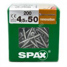 Саморезы для крепления фасадной и террасной доски SPAX 4.5x50