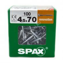 Саморезы для крепления фасадной и террасной доски SPAX 4.5x70