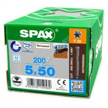 Саморез SPAX D 5x50 для террасной доски