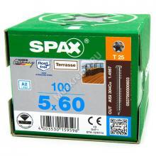 Саморез SPAX D 5x60 для террасной доски