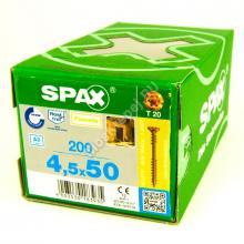 Саморез для фасадной доски с двойной резьбой SPAX 4.5x50 Антик