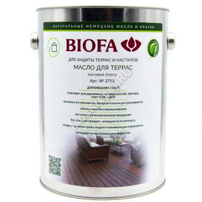 BIOFA 3753 Масло для террас 2,5 л.