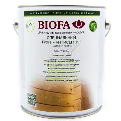 BIOFA 8750 PROFI Грунт-антисептик для дерева 2,5 л.