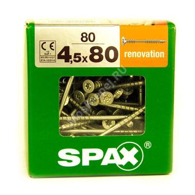 Саморезы для крепления фасадной и террасной доски SPAX 4.5x80