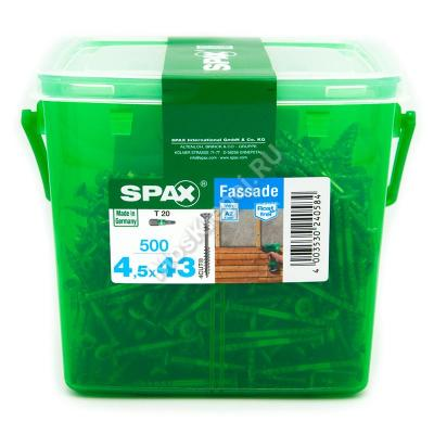 Саморез для фасадной доски SPAX 4.5x43
