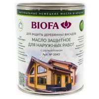 BIOFA 2043 Масло защитное для наружных работ с антисептиком 1 л.