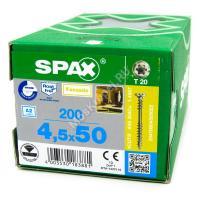 Саморез SPAX 4.5x50 для фасадной доски с двойной резьбой