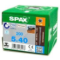 Саморез для террасной доски SPAX D 5x40