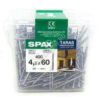Саморезы SPAX 4.5x60 для террасной доски (400 шт. + бита)